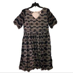 Motherhood Maternity Black & White Lace Dress